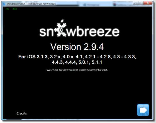 sn0wbreeze 2.9.4 jailbreak ios 5.1.1